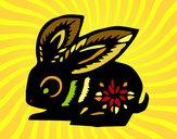 Dibujo Signo del conejo pintado por claudenasv