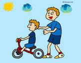 Dibujo Triciclo pintado por perrior