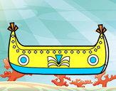 Dibujo Barco de indios pintado por estrellax