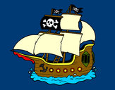 Dibujo Barco pirata pintado por miapp