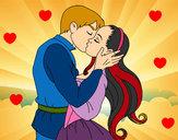 Dibujo Beso de amor pintado por SinaiV