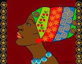 Dibujo Camerunesa pintado por claudenasv