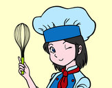 Dibujo Cocinera pintado por queyla