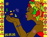 Dibujo Diosa del viento pintado por claudenasv