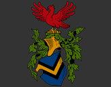 Dibujo Escudo de armas y aguila  pintado por yarco94