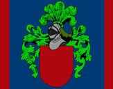 Dibujo Escudo de armas y casco pintado por yarco94