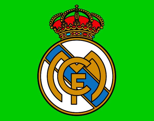 Dibujos Para Colorear Escudo Real Madrid: Fot Del Escudo De Real Madri Coloreado