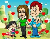 Dibujo Familia feliz pintado por miguelrap