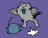Dibujo Gato juguetón pintado por Coatl