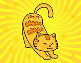 Dibujo Gato vago pintado por mar83