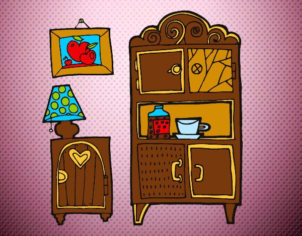 dibujo de muebles de salón pintado por dianita12 en dibujos.net el ... - Dibujo De Muebles
