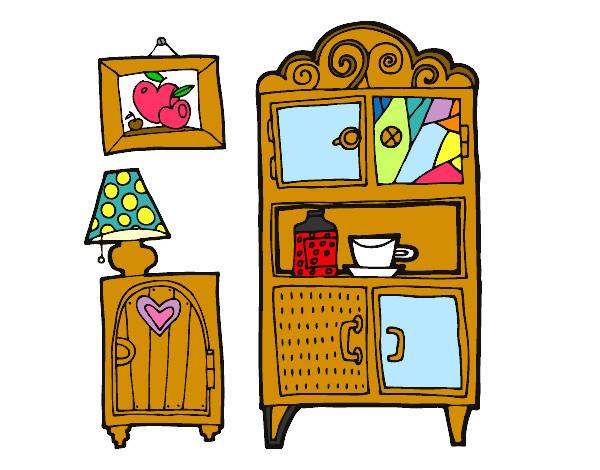 Dibujo de muebles de sal n pintado por francisco3 en for Muebles de la casa