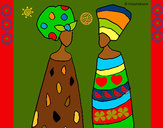 Dibujo Mujeres del Congo pintado por claudenasv
