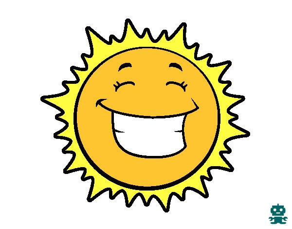 Dibujos Del Sol A Color: Dibujo De Sol Sonriendo Pintado Por Mar1234567 En Dibujos