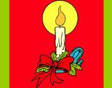 Dibujo Vela de navidad 3 pintado por dianita12