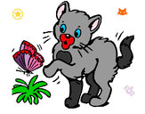 Dibujo Gato 1 pintado por alex1111