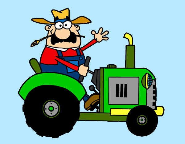Dibujos de tractores para colorear - Disegno di immagini di veicoli ...
