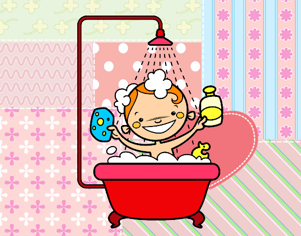 Dibujo de Niño en la ducha pintado por Queyla en Dibujos.net el ...