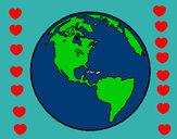 Dibujo Planeta Tierra 1 pintado por  janm