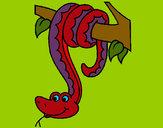 Dibujo Serpiente colgada de un árbol pintado por JuanMar3