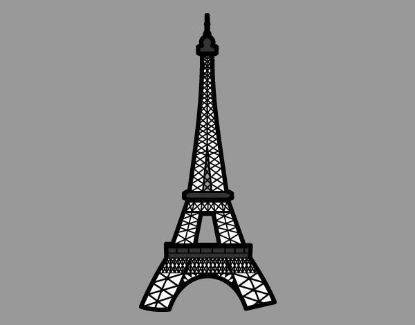 Torre Ifel En Dibujo: Dibujo De Torre Eiffel Pintado Por Adriana11 En Dibujos