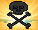 Dibujo Calavera pirata pintado por miqueas234