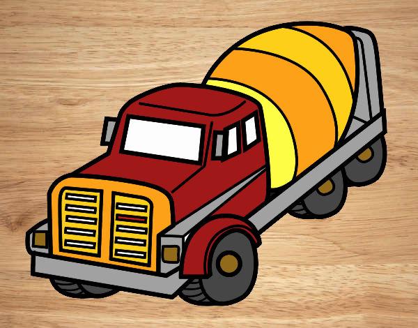 Dibujo De Camión Hormigonera Pintado Por David20125 En Dibujosnet