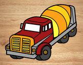 Dibujo Camión hormigonera pintado por david20125
