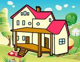 Dibujo Casa con porche pintado por francisco3