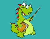Dibujo Dinosaurio profesor pintado por rafamarin4