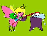 Dibujo Hada de los dientes pintado por clowden200