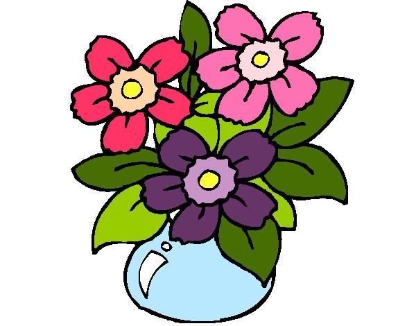 Dibujo de Jarrón de flores pintado por Navely en Dibujos.net el día ...