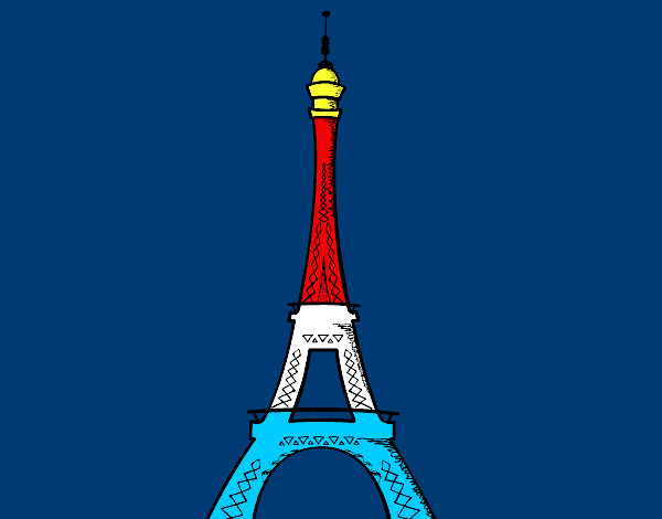 Torre Eiffel Dibujo Animado A Color: La Torre Eiffel Dibujo