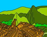 Dibujo Machu Picchu pintado por Assin
