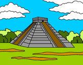 Dibujo Pirámide de Chichén Itzá pintado por Assin
