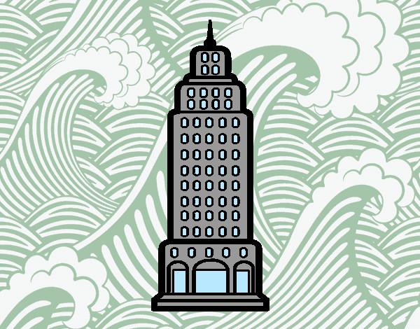 Dibujo de Rascacielos pintado por Gardenia en Dibujosnet el da