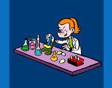 Dibujo Técnico de laboratorio pintado por queyla