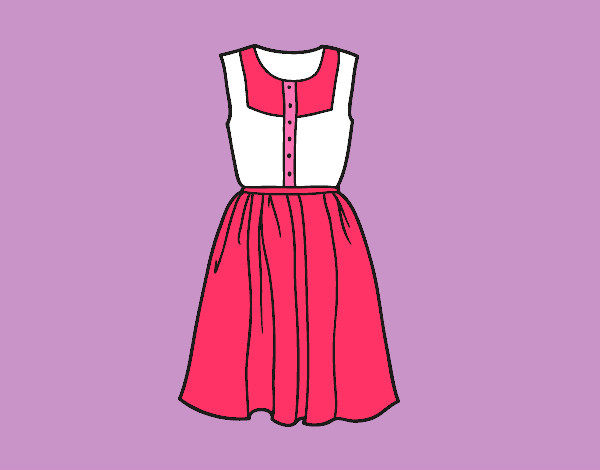 Dibujo De Vestido Veraniego Pintado Por Elisan En Dibujos