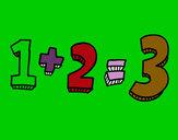 Dibujo 1+2=3 pintado por SanJoaquin