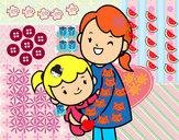 Dibujo Abrazo con mamá pintado por Anto05