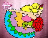Dibujo Barbie en un saludo de agradecimiento pintado por 3893450