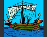Dibujo Barco romano pintado por queyla