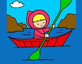 Dibujo Canoa esquimal pintado por secayean