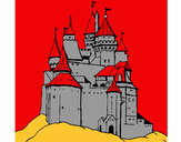 Dibujo Castillo medieval pintado por justina12