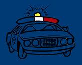 Dibujo Coche de policía pintado por secayean