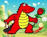 Dibujo Dragón enamorado pintado por LuiisaOMG