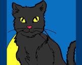 Dibujo Gato pintado por cristire