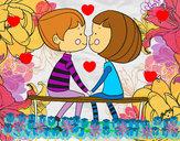 Dibujo Jóvenes enamorados pintado por siolinda