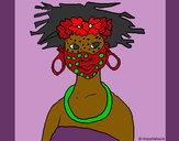Dibujo Mujer a la moda pintado por queyla