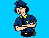 Dibujo Mujer policía pintado por secayean